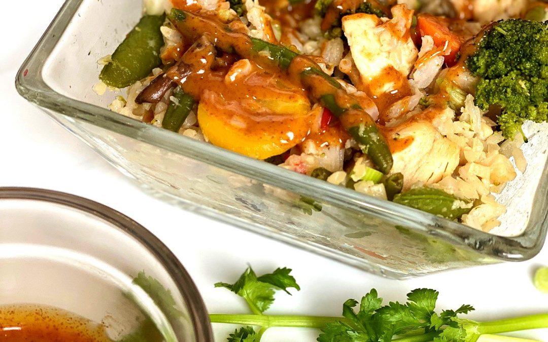 cauliflower fried rice stir fry